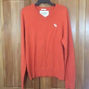 A&F Pumpkin Orange Sweater